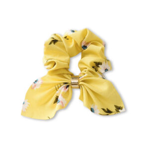 Scrunchy-bow-ring-yellow-flowers